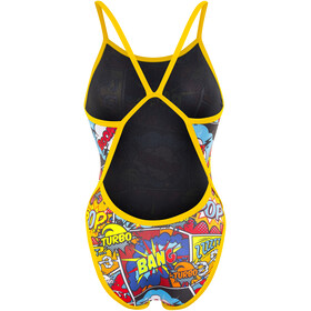 Turbo Comic Boom Revolution Thin Strap Swimsuit Women Red